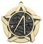 Custom Super Star Medal - Math - 2-1/4
