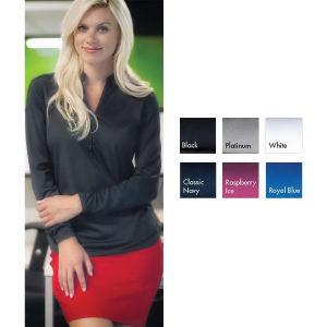 Womens Kathryn Mandarin Collar Knit Top