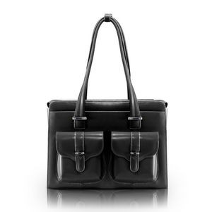 "14"" McKlein® USA Alexis Black Leather Ladies' Briefcase"