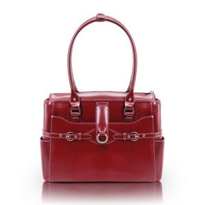 "15"" McKlein® USA Willow Springs Red Leather Ladies' Briefcase"