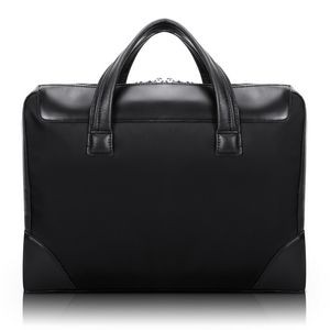 "McKlein® USA 15"" Black Harpswell Dual Compartment Laptop Briefcase"