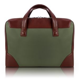 "15"" Green McKleinUSA N Series Harpswell Dual Compartment Laptop Briefcase"