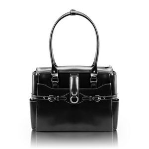 "15"" McKlein® USA Willow Springs Black Leather Ladies' Briefcase"