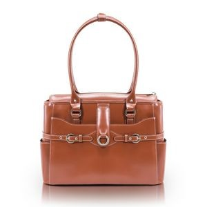 "15"" McKlein® USA Willow Springs Brown Leather Ladies' Briefcase"