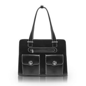 "15"" McKlein® USA Verona Black Leather Checkpoint-Friendly Ladies' Briefcase"