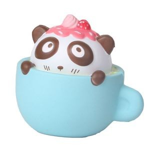 Slow Rising Scented Squishy Strawberry Panda Caf¨¦-Pink