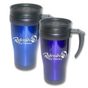 16 Oz. Stainless Steel Traveler Mug
