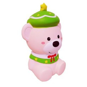 CutieLine Slow Rising Scented Pink Christmas Bear Squishy