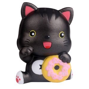 Slow Rising Scented Squishy Cat With Donut