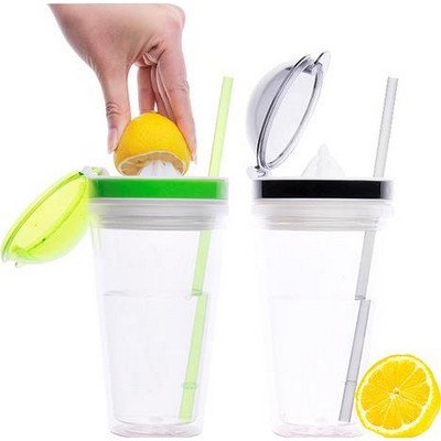 16oz. Cup With Fruit Squeezer Lid