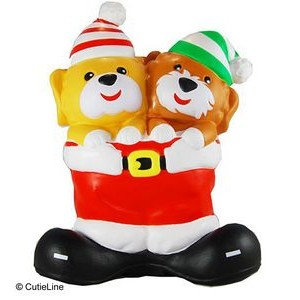 CutieLine Slow Rising Scented Christmas Twin Puppy Squishy