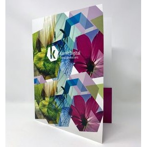 PRESENTATION FOLDER **Price Includes Full Color w/ High Gloss Finish & Business Card Slots