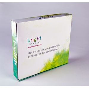"PRESENTATION & MAILER BOX (13.8"" x 12.4"" x 2.25"") Full Color w/ High Gloss Film Laminate Finish"
