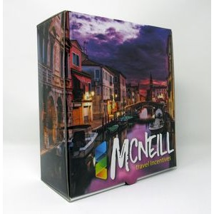 "PRESENTATION & MAILER BOX (8"" x 9"" x 3.7"") Full Color w/ High Gloss Film Laminate Finish"