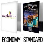 Custom POCKET FOLDER | Economy & Standard Print Coverage Options (FREE SETUP!) **Price Includes 4-COLOR