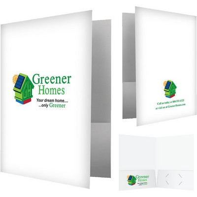 Pro logo depot economy pocket folder 3 large 4 color imprint areas gloss finish business colourmoves