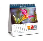 Custom Nature, Floral or Seasonal Stock Photo Desk Calendar - 4 3/4
