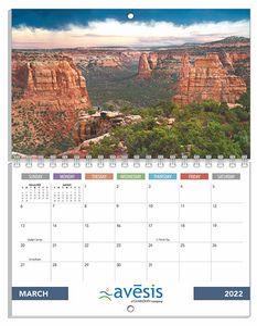 12 Photos Large Size Custom Wall Calendars - 8 1/2x11