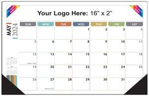 Full Color Desk Pad Calendar - 17x12