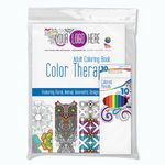 Custom Color Therapy 24 Page Adult Coloring Book with Colored Pencil 10 Pack