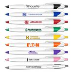 Custom Silhouette Retractable Ball Point Pen with Black Writing Ink
