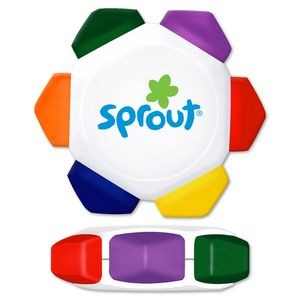Liqui-Mark® Crayo-Craze® 6-Color Crayon Wheel (White)