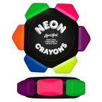 Custom Neon 6 Color Crayon Wheel