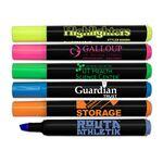 Custom Brite Spots Black Barrel Jumbo Fluorescent Highlighter