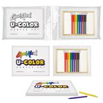 Custom U-COLOR Canvas Art + 8 Color Marker Set