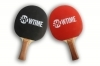 Custom Black/Red Ping Pong Paddle