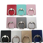 Custom Cell Phone Ring Holder and Stand with 360 degree rotation and 180 degree swivels