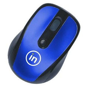 "Wireless Optical Mouse w/ USB Receiver & Black Trim (3.70""x2.48""x1.42"")"