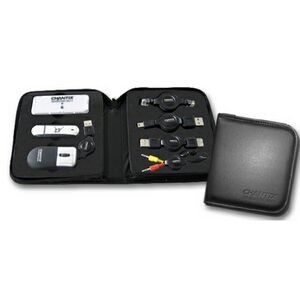 Travel Kit with USB Drive & Mini Optical Mouse (7 Piece Set)