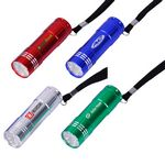Custom 9 LED Lights with Aluminum Body Wrist Strap and Batteries Included