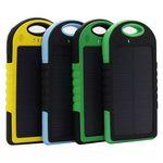 Custom Rechargeable 5000mAh Water -Resistant Solar Power Bank