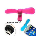 Custom Micro Connector Mini Cell Phone Fan for Android Phones