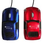 Custom Full Size Sports Car Optical Mouse w/ Headlights (4.50