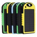 Custom Rechargeable 4000mAh Water -Resistant Solar Power Bank