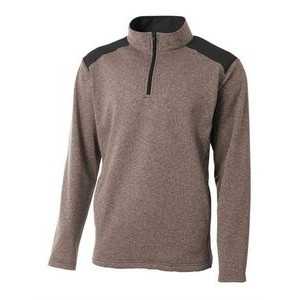 Men's A4 Tourney Color Block Fleece 1/4 Zip Pullover