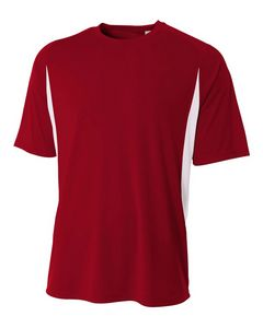 Custom Youth Cooling Performance Color Blocked Short Sleeve Crew Shirt