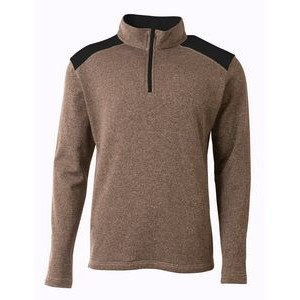 Boy's A4 Tourney Color Block Fleece 1/4 Zip Pullover