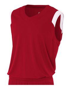 Custom Youth Moisture Management V Neck Muscle Shirt