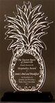 Custom Tropical Pleasure Pineapple Award on a Black Base - Acrylic