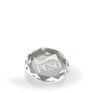 Corporate Facets Octagon Paperweight - Optic Crystal
