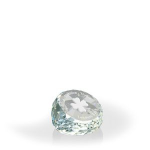 Corporate Minutes Clear Round Paperweight - Optic Crystal