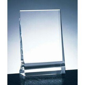 "Milan Vertical Plaque Award - Optic Crystal (5""x3""x1 3/16"")"