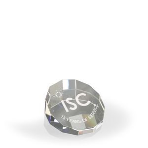 DuoDecagon Paperweight/ Award - Optic Crystal