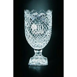 "Killarney Trophy Vase - Lead Crystal (13""x6 1/2"")"