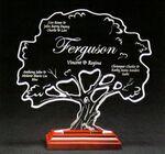 Custom Tree-of-Life Award on a Rosewood Base - Acrylic (8