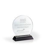 Custom Circle of Excellence Award on a Black Base - Acrylic (5 3/4